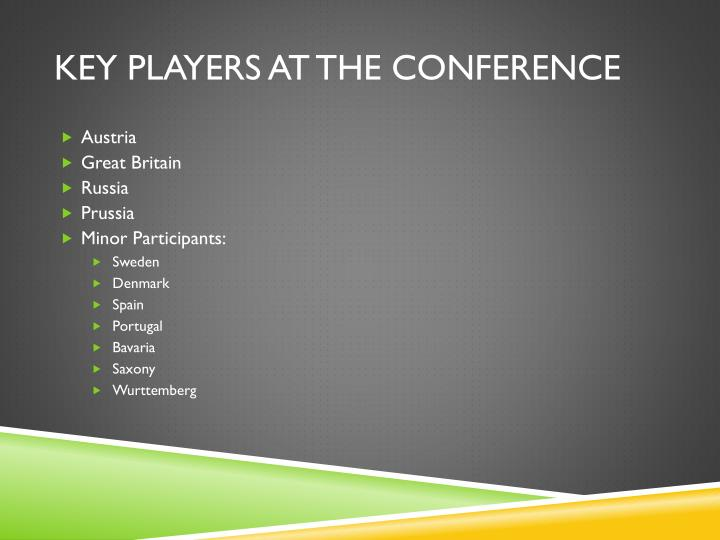 Key Players at the Conference