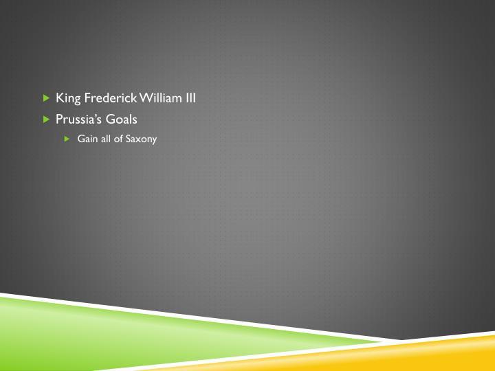 King Frederick William III