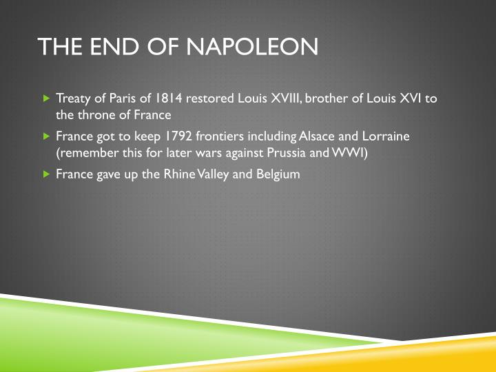 The End of Napoleon