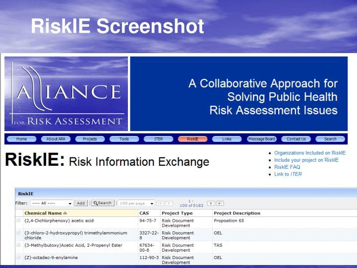 RiskIE Screenshot