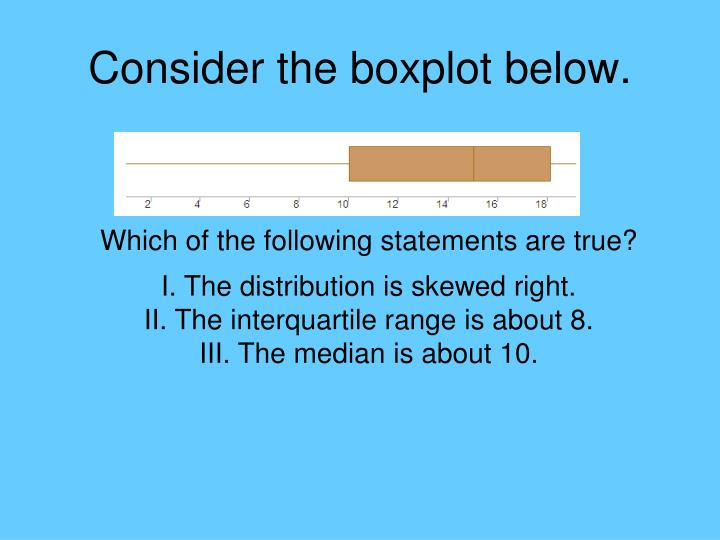 Consider the boxplot below.