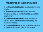 measures of center mode