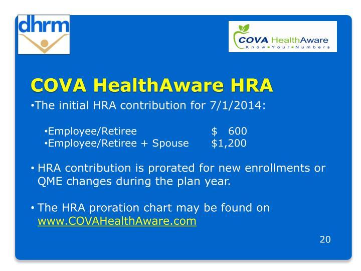 COVA HealthAware HRA