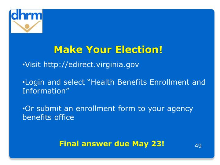 Make Your Election!
