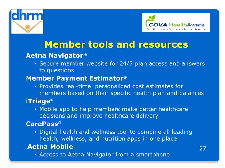 Member tools and resources