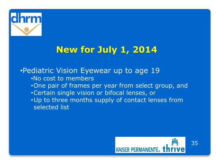 New for July 1, 2014