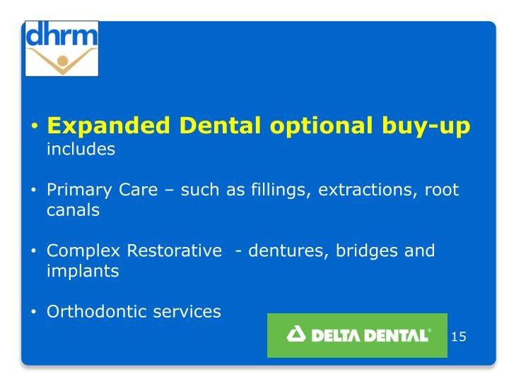 Expanded Dental optional buy-up