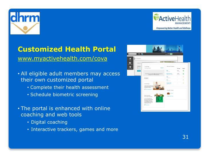 Customized Health Portal