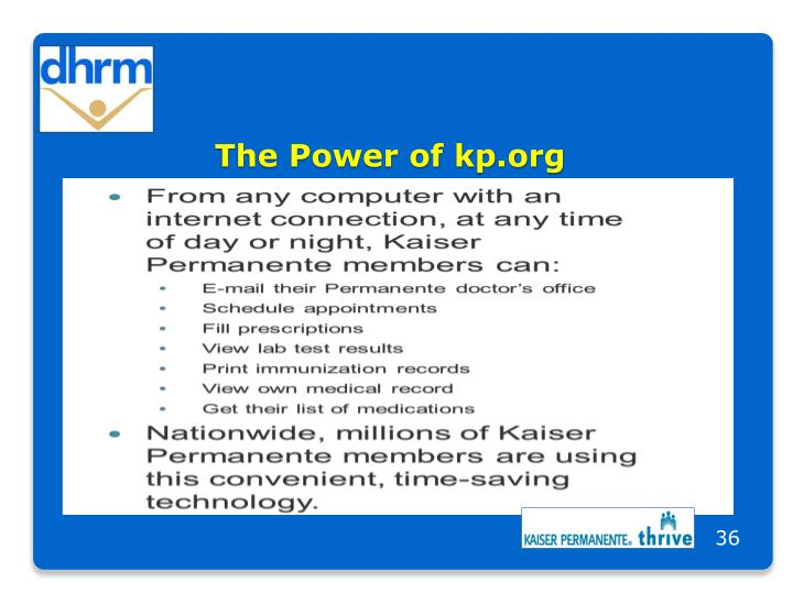 The Power of kp.org