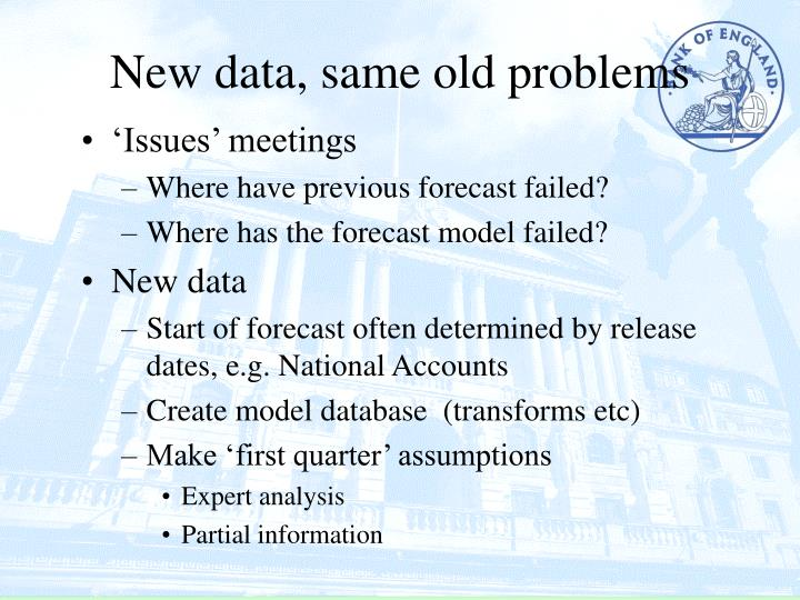 New data, same old problems