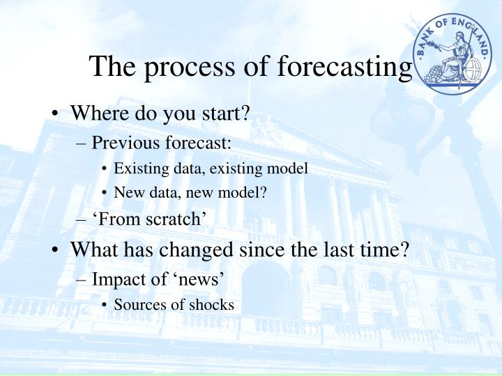 The process of forecasting