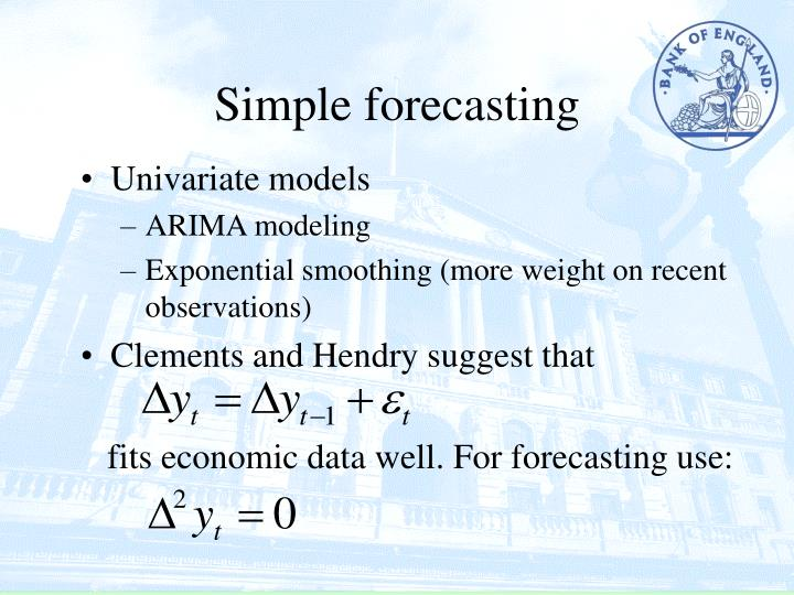 Simple forecasting