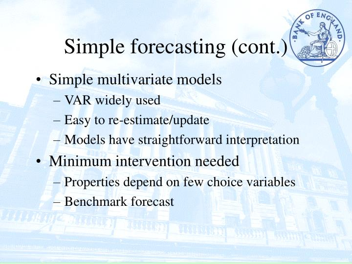 Simple forecasting (cont.)