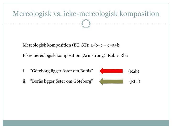 Mereologisk vs. icke-