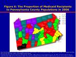 figure 6 the proportion of medicaid recipients to pennsylvania county populations in 2006