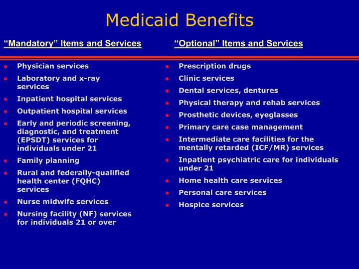 Medicaid Benefits