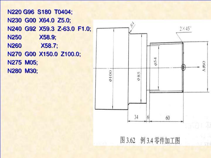 N220 G96  S180  T0404;