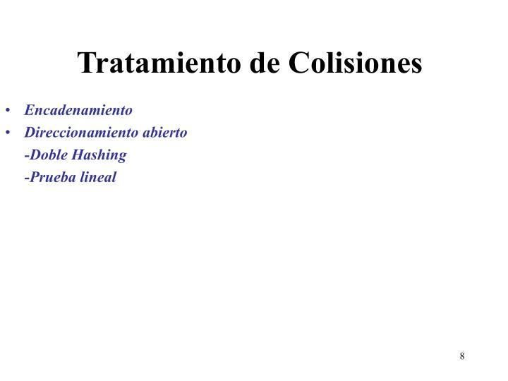 Tratamiento de Colisiones
