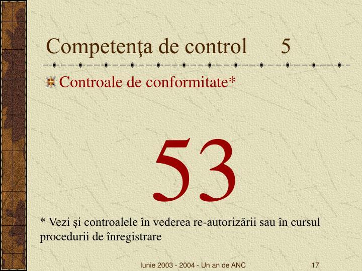 Competenţa de control      5