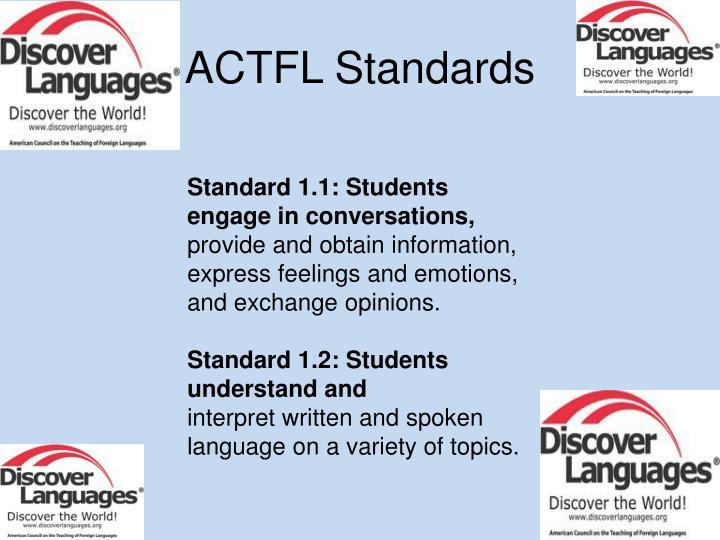 ACTFL Standards