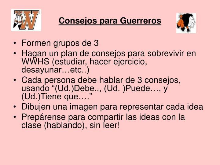 Consejos para Guerreros