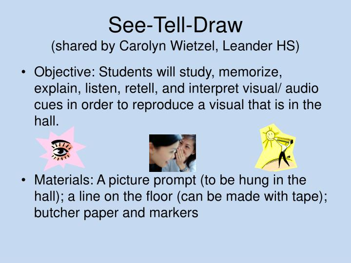 See-Tell-Draw