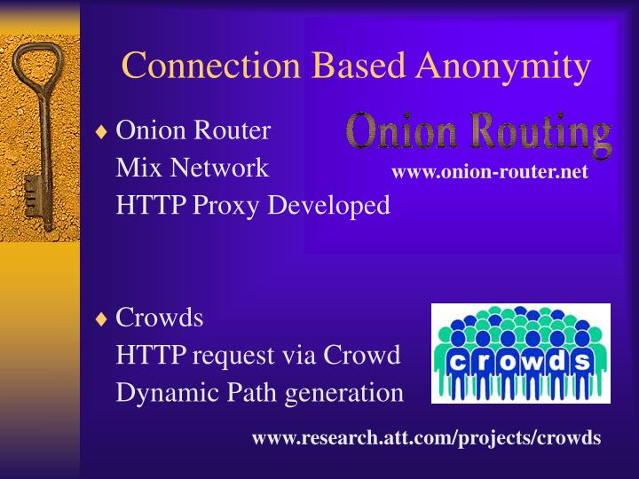 Connection Based Anonymity