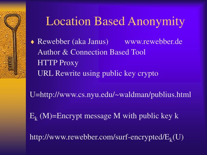 Location Based Anonymity
