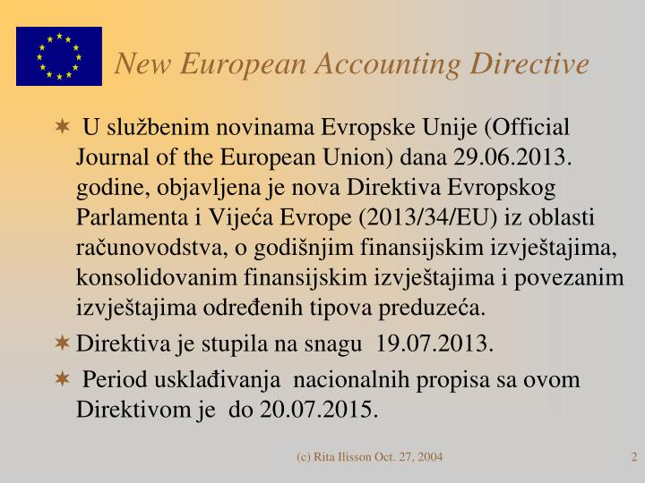 New european accounting directive