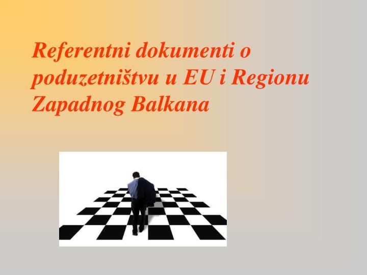 Referentni dokumenti o poduzetništvu u EU