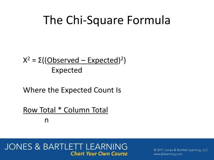 The Chi-Square Formula