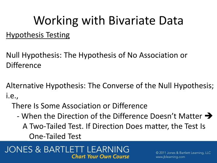Working with Bivariate Data