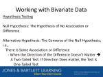 working with bivariate data