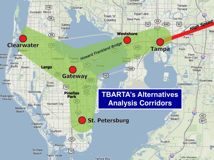 TBARTA's Alternatives Analysis Corridors