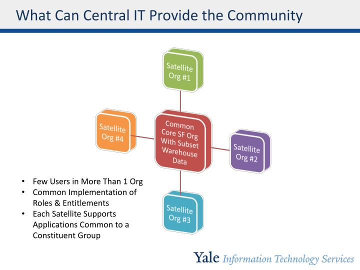 What Can Central IT Provide the Community