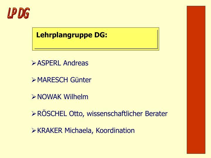 Lehrplangruppe DG: