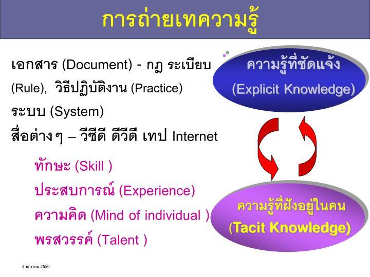 การถ่ายเทความรู้