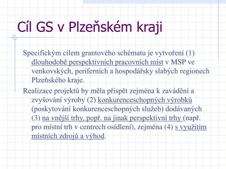 Cíl GS v Plzeňském kraji