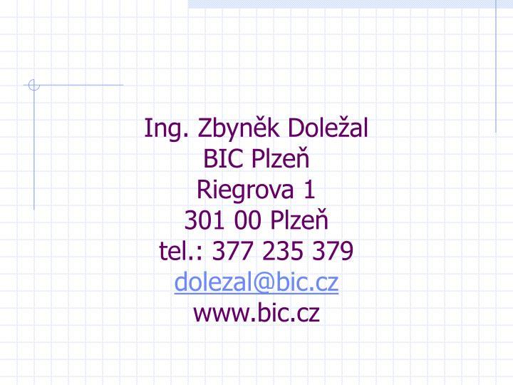 Ing. Zbyněk Doležal