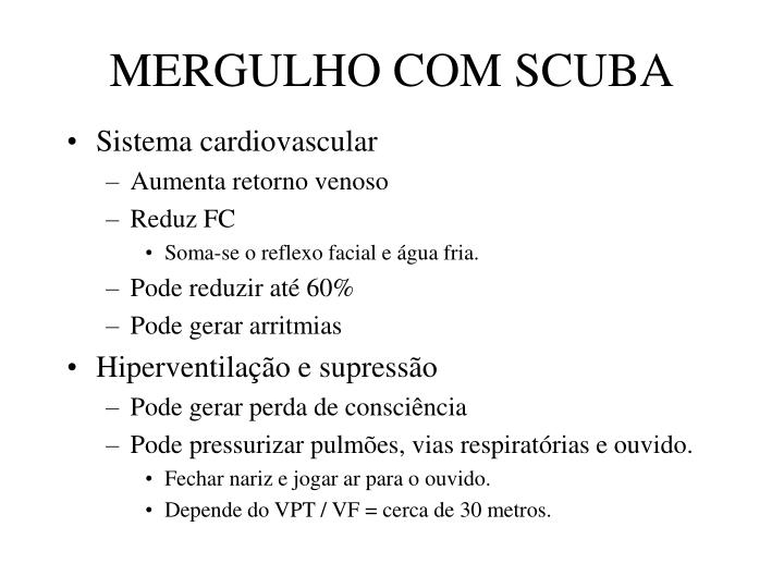 MERGULHO COM SCUBA