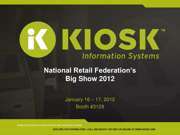 National retail federation s big show 2012