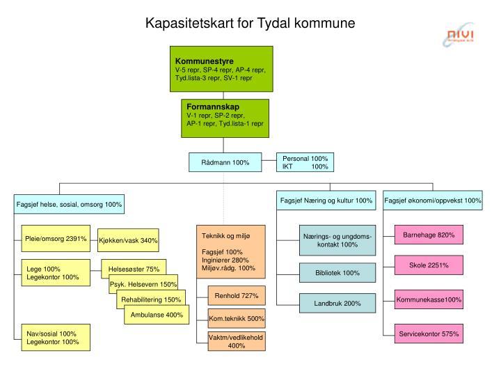 Kapasitetskart for Tydal kommune