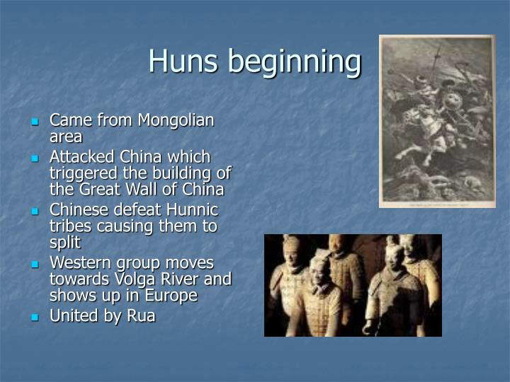 Huns beginning