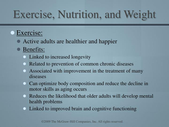 Exercise, Nutrition, and Weight