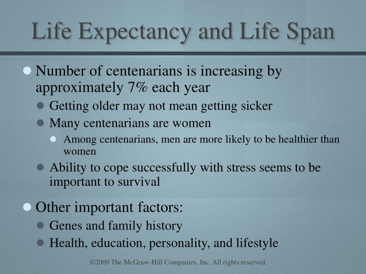 Life Expectancy and Life Span