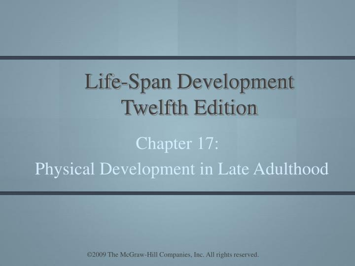 Life span development twelfth edition