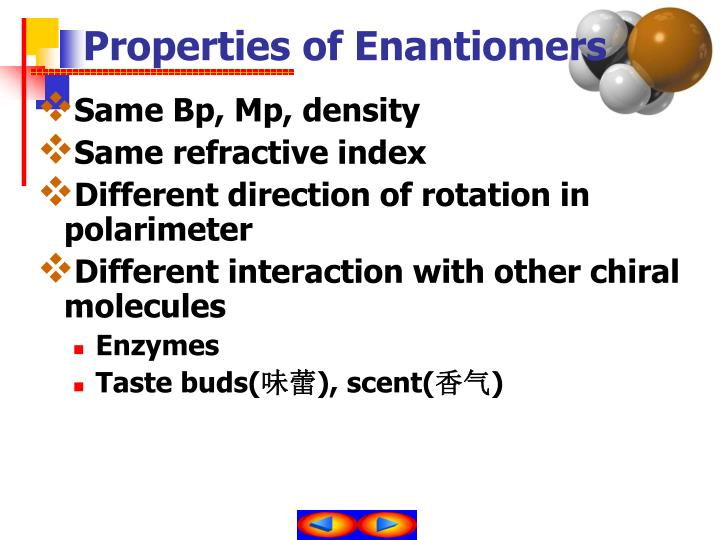 Properties of Enantiomers