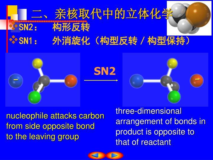 二、亲核取代中的立体化学