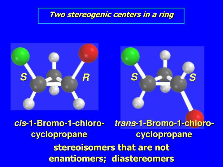 Two stereogenic centers in a ring