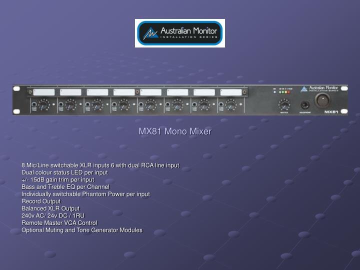MX81 Mono Mixer